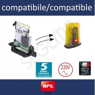 Scheda a LED alta efficienta per lampeggianti BFT