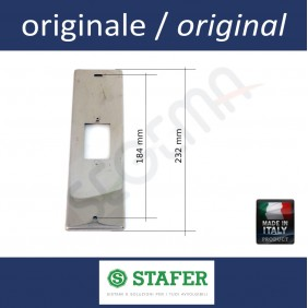 Inox plate to cover the hole and socket boxe int. 206