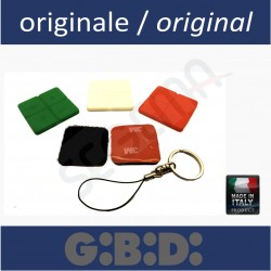 Colorful blister covers and key rings for DOMINO