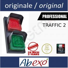 TRAFFIC 2 semaforo 2 luci led rosso e verde