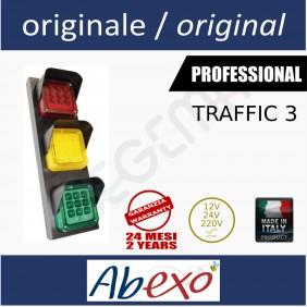 TRAFFIC 3 semaforo 3 luci led rosso, verde, giallo